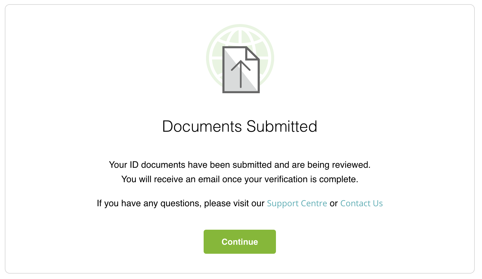 neteller verification submitted